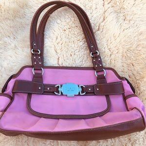 Chaps  Pink & Brown Women's Handbag.